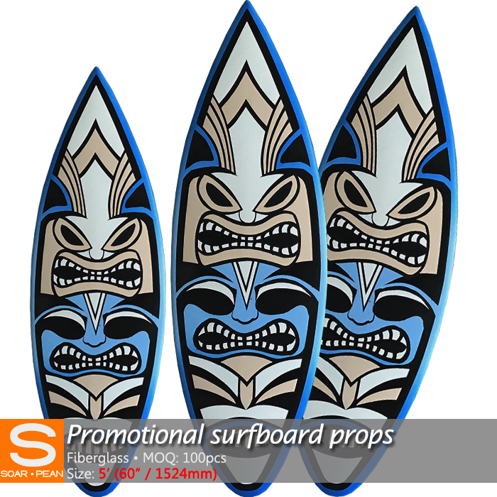 Hot Sale High Quality Fiberglass Surfboards Whole Sale 5 feet Length display boards
