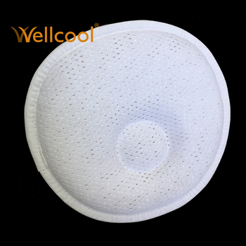 washable and cooling 3d spacer mesh anti roll head shaping baby pillow