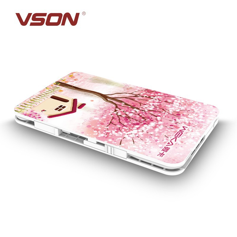 Vson card size Large capacity 2000mah usb power bank for 99% smartphone