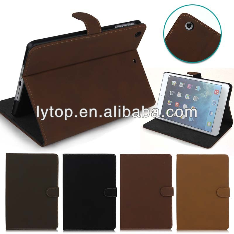 Vintage Book Style Lather Case For IPad Mini Retina