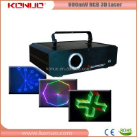 800mW 3D rgb animation christmas laser light show