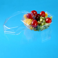 clear hard plastic packing salad box with lid