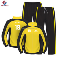 2018 dreamfox soccer club track suit custom top design adult football Tracksuit kids