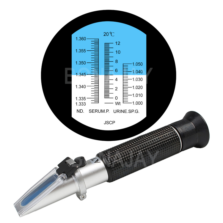 Human Urine protein Tester  refractometer Handheld Clinical Refractometer Urine Specific Gravity Tester