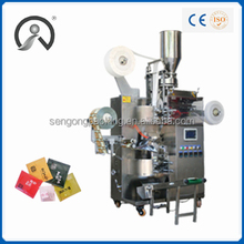 Moringa Tea Bag Packaging Machine with thread, tag and envelope