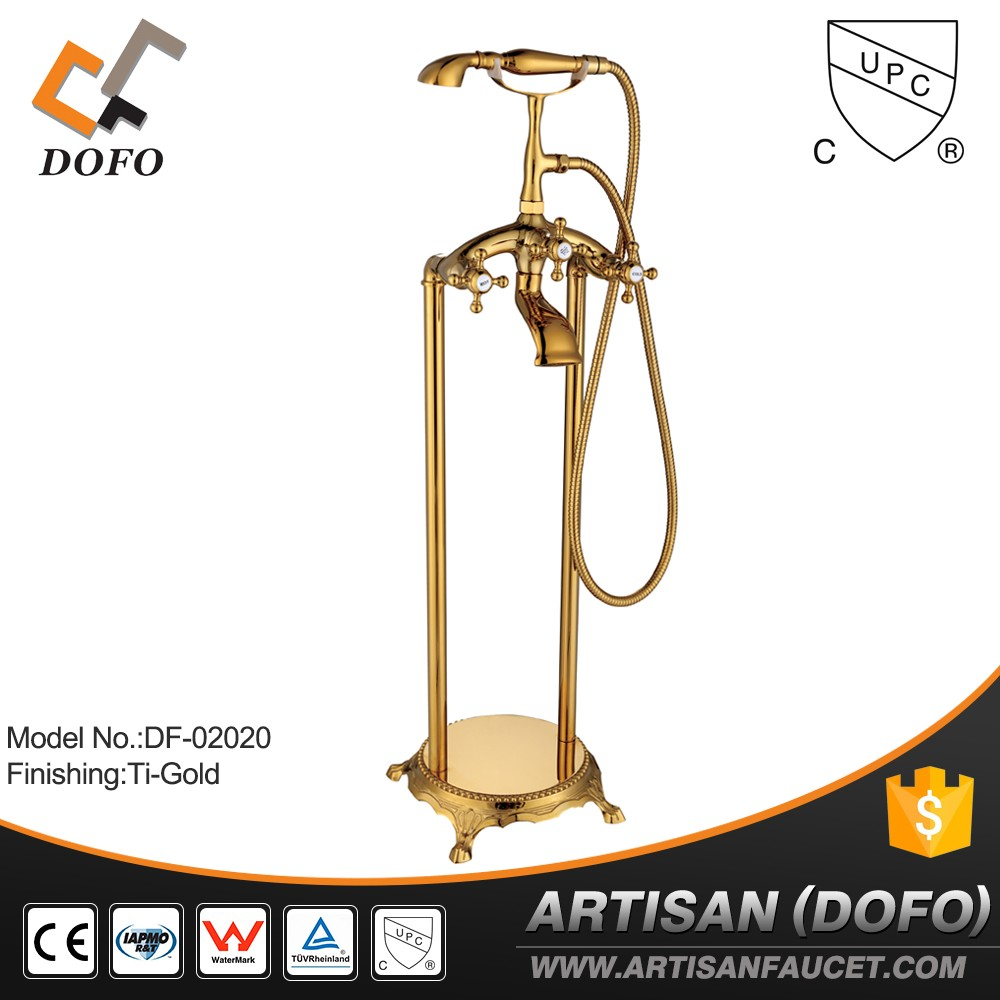 New style polished Brass freestanding outdoor display stand for faucet