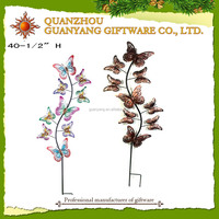 Pretty Butterflies Garden Stake With decorative Hanging Hook