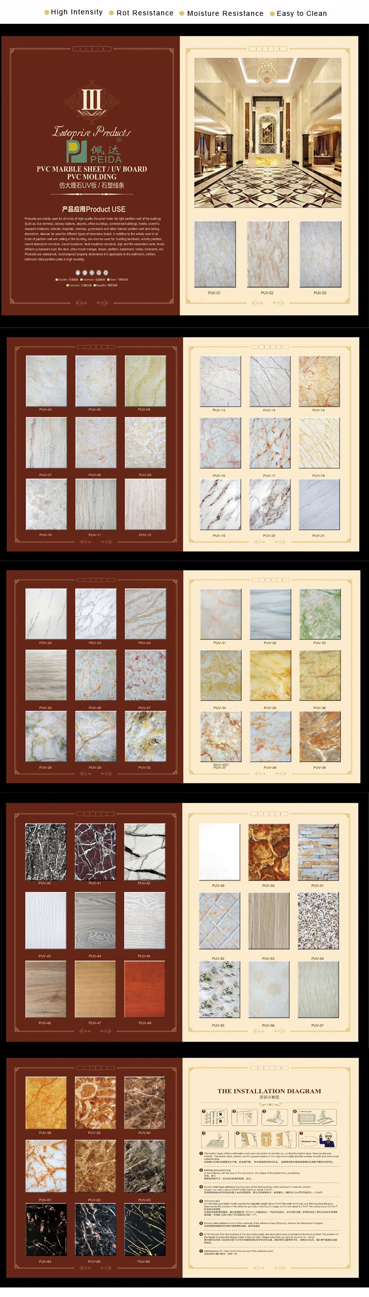 2017 Various Color PVC Ceiling Panel Of New Design PVC Marble Sheet Made In China by L/C Payment