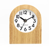 wooden quartz analog silent sweeping modern mantel clocks(TC-17)