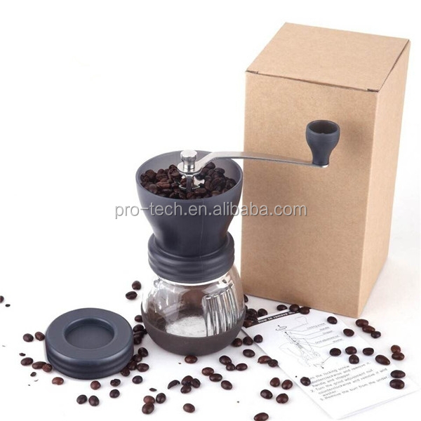 Protech Manual Ceramic Burr Coffee Grinder Mill