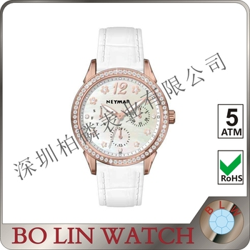 vogue ladies watch, 2017 new product Pay, 5ATM, chrono diamond watch