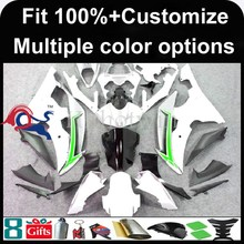 INJECTION MOLDING panels 2008 2009 2010 2011 2012 YZFR6 For yamaha white green Fairing Fit YZF R6 2008 2012 2009 2011
