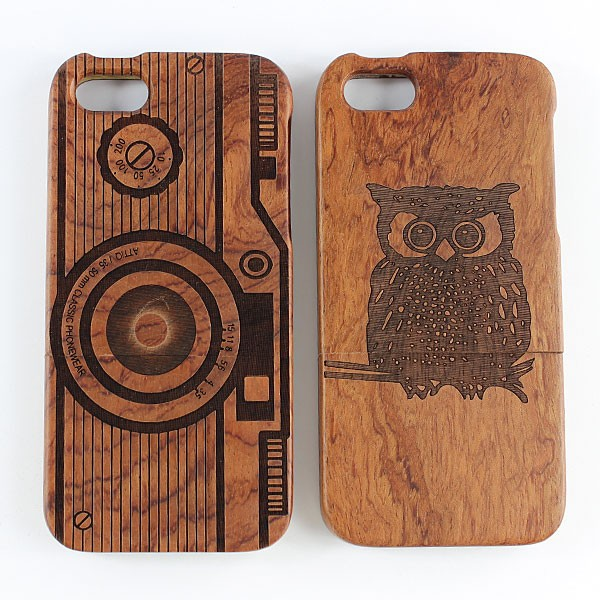 Wooden Cover Case For iPhone 5S, Smartphone Case With Image