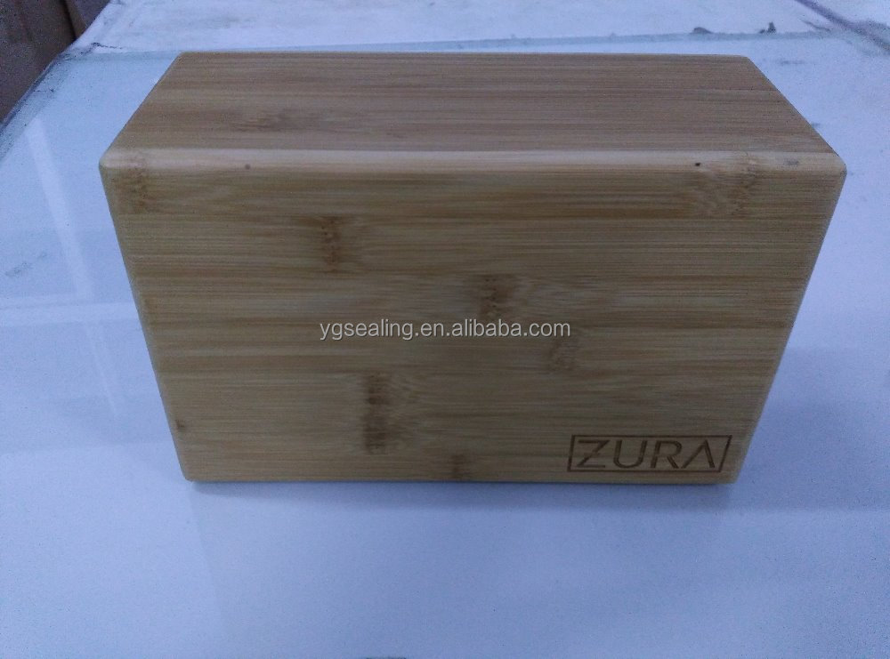 Bamboo block for Yoga/Yoga bamboo block customized logo