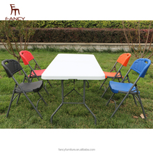 Outdoor furniture 6FT plastic table chairs folding tables for events