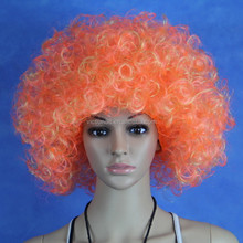 MY-QM-0006 Yiwu Afro wig fan wig, fashionable football fan wigs, hot sale colorful football fans wig