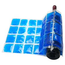 Flexible when frozen contours around food can or wine gel ice pack bottle cooler