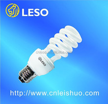 2016 leso products half spiral energy saving lamps 26W 12mm E27 base