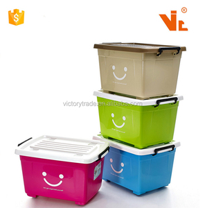V-X1074 Multi-function plastic waterproof wheeled storage boxes with handle and lid