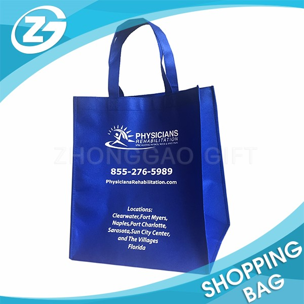 Silk Screen Logo Print Advertising Wholesale Eco Custom Cheap Promotion Polypropylene Shopping Non Woven Fabric Tote Bag