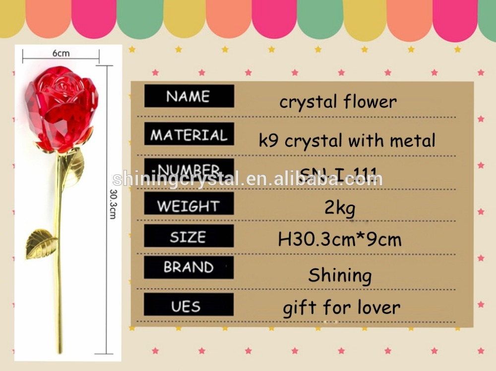 crystal flower fake rose for wedding table centerpieces