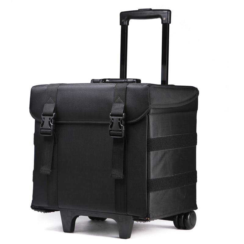 Hair compact canvas nylon travel rolling trolley case