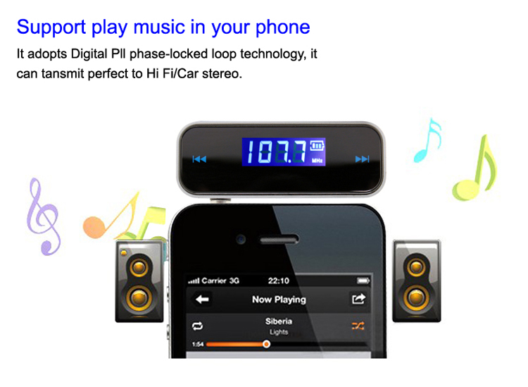 GXYKIT High Quality F1 Mobile Fm Transmitter Car Mp3 Player for iphone Android cell phone