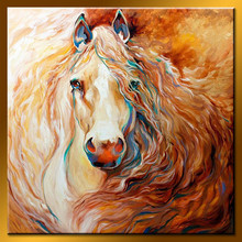 Modern Wholesale Run Horse Handmade Animal Painting For Gallery