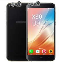 DOOGEE X30 Dual Rear Camera Mobile Phone 5.5 Inch HD MTK6580 Quad Core Android 7.0 2GB RAM 16GB ROM Dual SIM Card 3G Cellphone