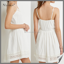 2016 sexy white woven western dress pattern sleevelss sexy club dress