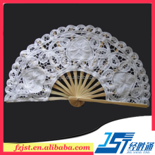 Online wholesale europe regional feature 20cm decorative wedding lace hand held fans