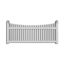 Hor sale free maintainance beautiful vinyl pvc different types picket fences