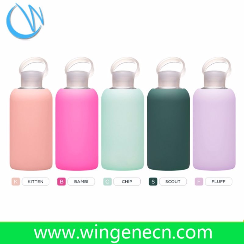 2017 Hot sell wholesale protective rubber sleeve for glass water bottle/silicone bottle sleeve