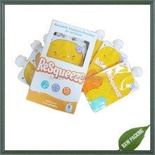 manufacturing refillable baby food spout pouch zipper for fruit snacks juice