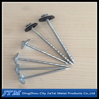 High quality rubber washer roofing nails/plastic washers for roofing nails