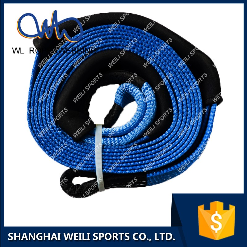 (WL STRAP) polyester rope ,eyes hook straps , emergency heavy duty recovery kit towing strap