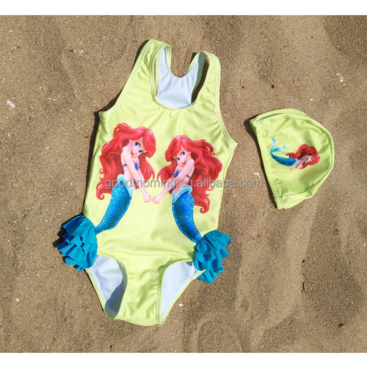 Lovely baby princess children's mermaid jumpsuits bathing suit
