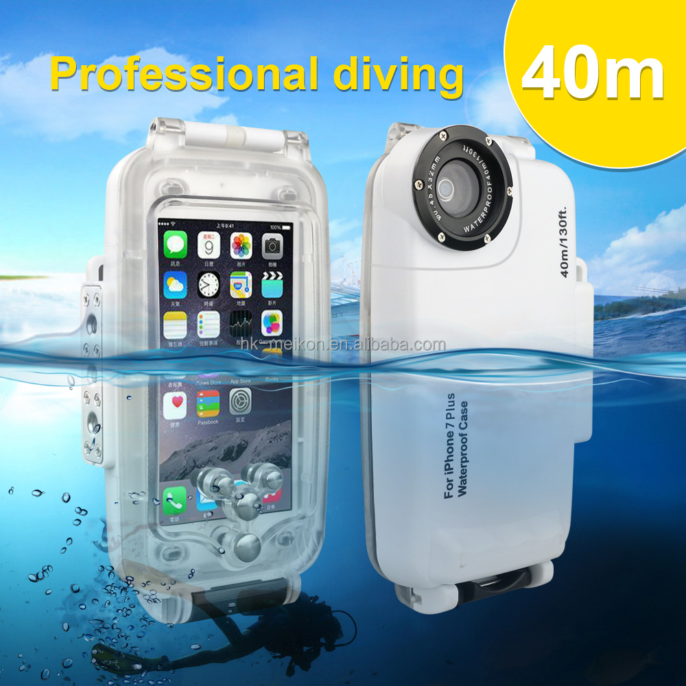 Meikon New products waterproof <strong>phone</strong> case, Underwater 40M Waterproof case for iphone 7 plus waterproof case