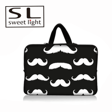 Promotional hotsell neoprene laptop tote bag with mustache pattern