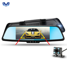 "Hot Sale Car Camera 3G 7"" Touch ADAS Remote Monitor Rear View Mirror With DVR And Camera Android Dual Lens 1080P WIFI Dashcam"