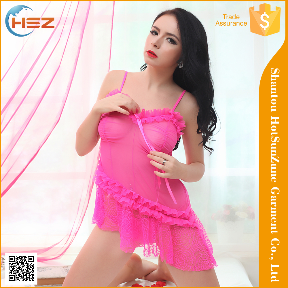 HSZ-8070# Fashion design comfort nightwear transparent nightwear for honeymoon lady nightwear