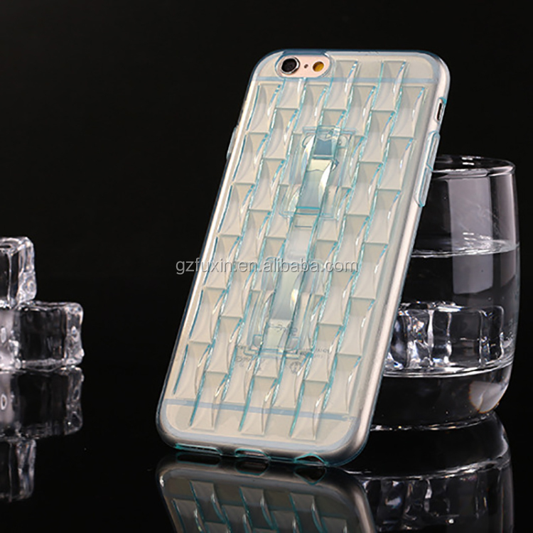 Newest slim ice sculpture transparent colorful phone covers for iphone 6 cases colorful sale