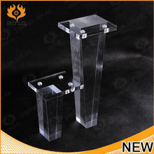 custom clear acrylic table legs,acrylic legs