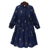 High grade elegant long sleeve chiffon printting women maxi dresses