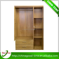 China custom made bedroom wooden wardrobe with mirror high demand products india