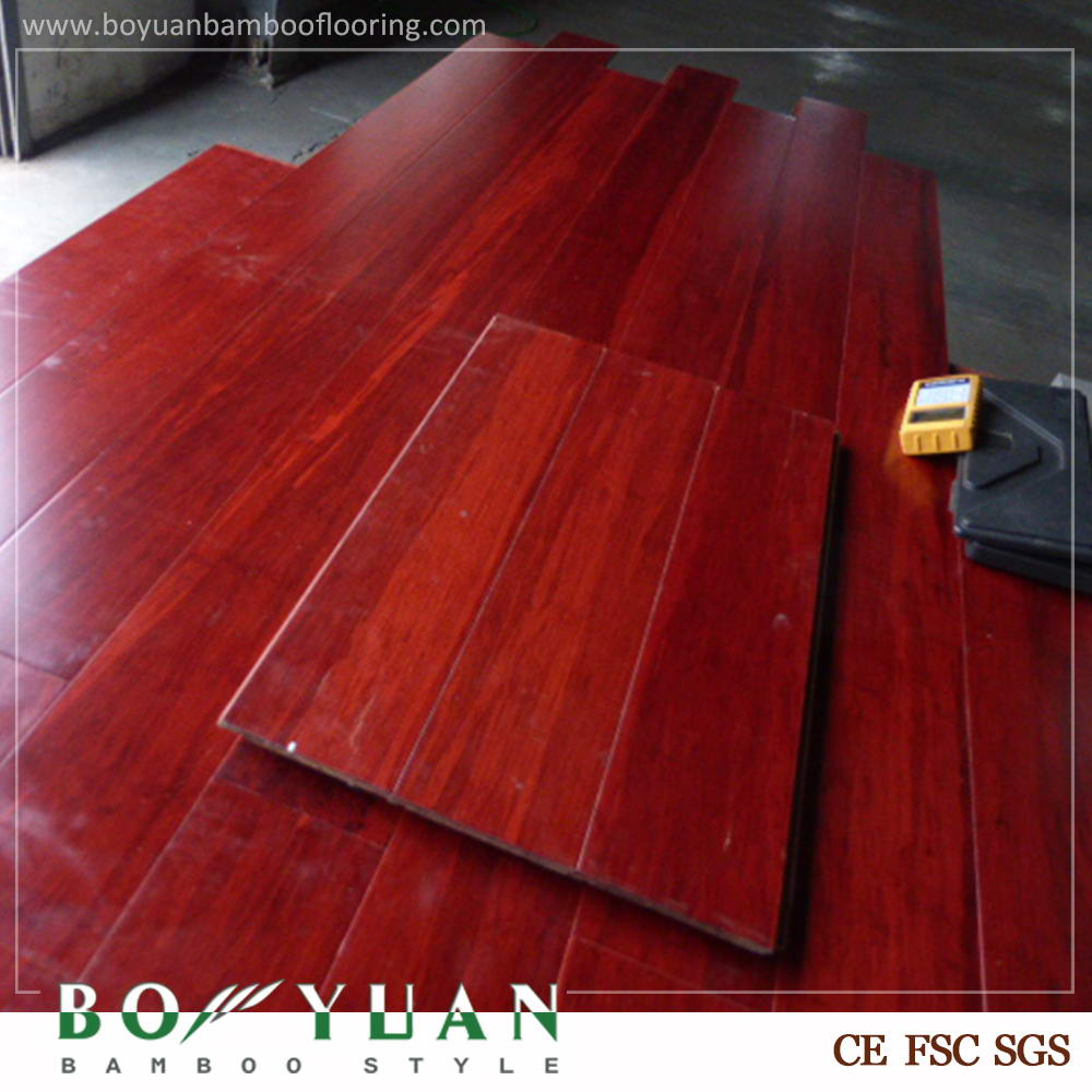 Brand BOYUAN China good supplier hot sell hdf engineered strand woven bamboo flooring