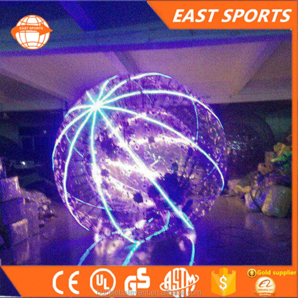 Inflatable Led Zorb Ball Manufacturer Kid Human Size Hamster Zorbing Ball For sale