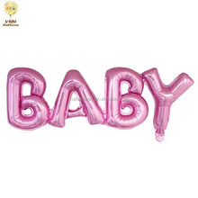 wholesale promotional gift cheap letter baby shaped foil balloon