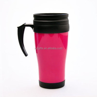 Promotion 22oz plastic mug tumbler,advertising double wall plastic tumbler with handle,cheap double wall 22oz plastic mug