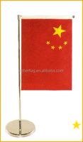 Different Kinds Of Desk Flags/Wooden Flag Pole And Stand Table Flag
